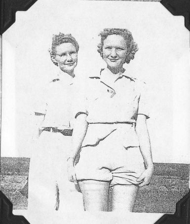 Irene and sister, Lily Milne