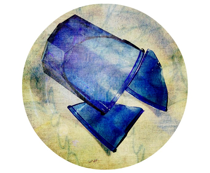 Blue Broken Glass
