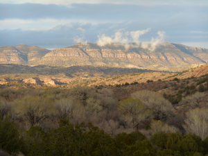 View of Bear Creek and Pinos Altos Mountains from the casitas